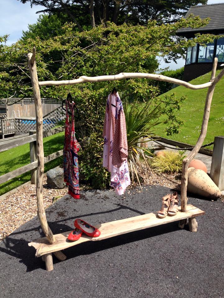 Driftwood clothes rail