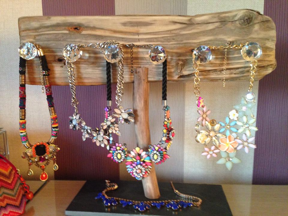 Driftwood mirrors, jewellery stands and other driftwood items.