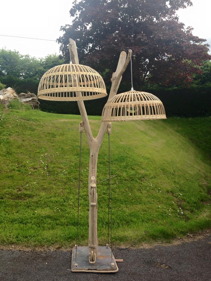Driftwood floor lamp 10