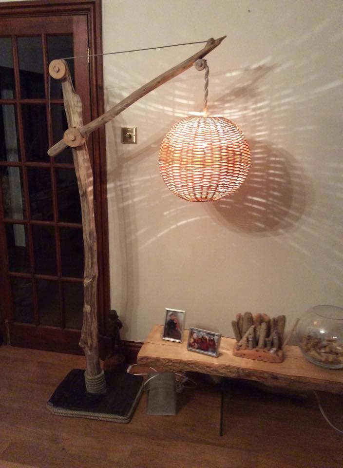 Driftwood floor lamp 13