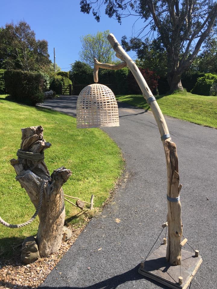 Driftwood floor lamp 2