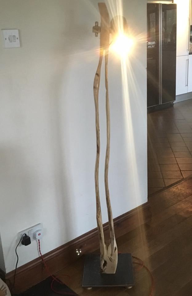 Driftwood floor lamp 4