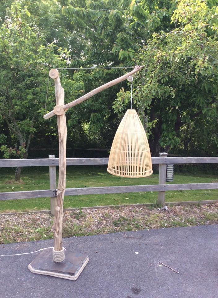 Driftwood floor lamp 8