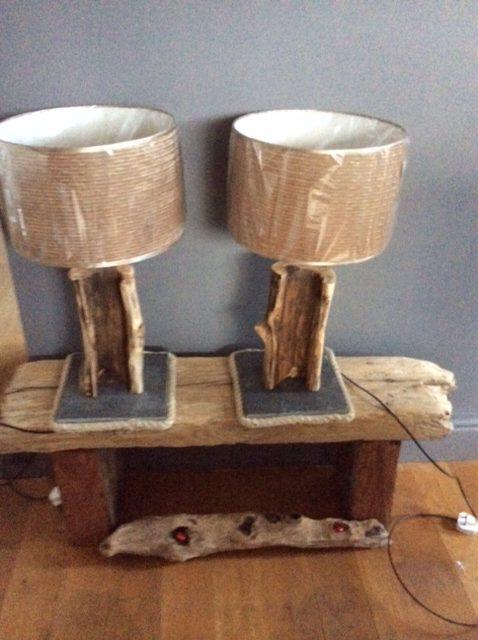 Driftwood short lamps